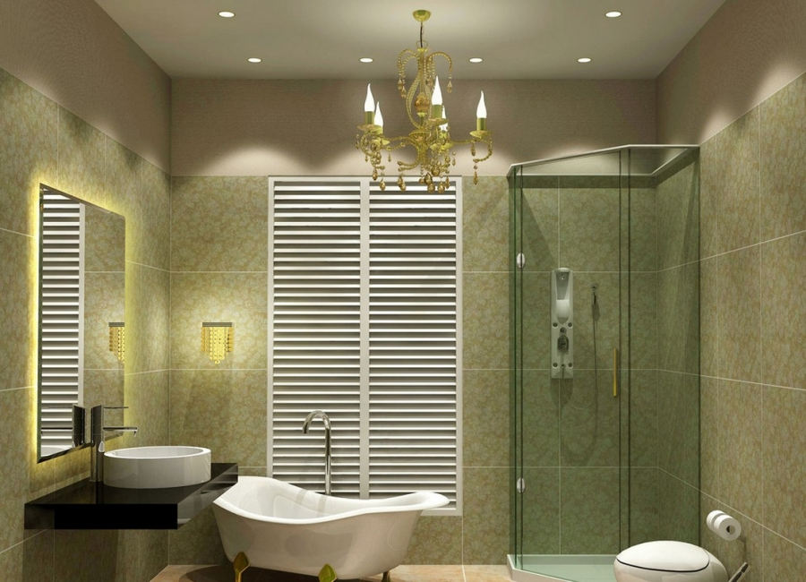 bathroom-chandelier
