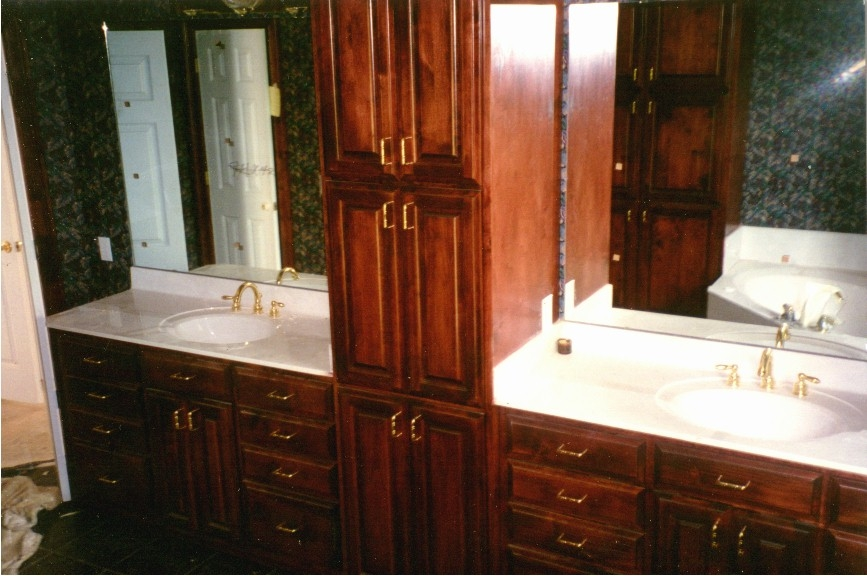 Bathroom Vanity With Oak Cabinets