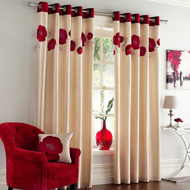 floral-print-window-curtains