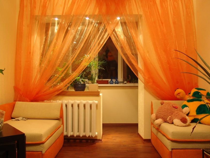 orange-contemporary-window-curtains