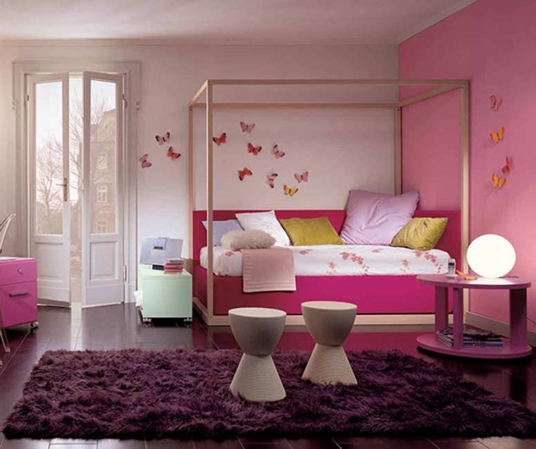 girls-pink-bedroom-designs