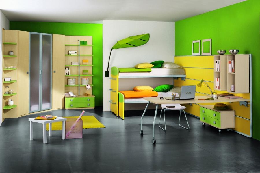 green-kids-bedroom-designs