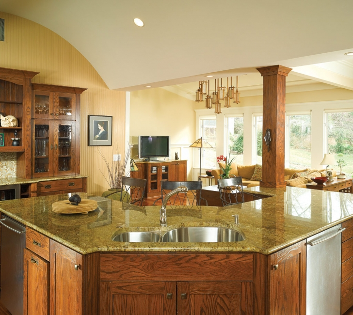 Oak And Granite Kitchen: Kitchen Countertops Pictures Gallery