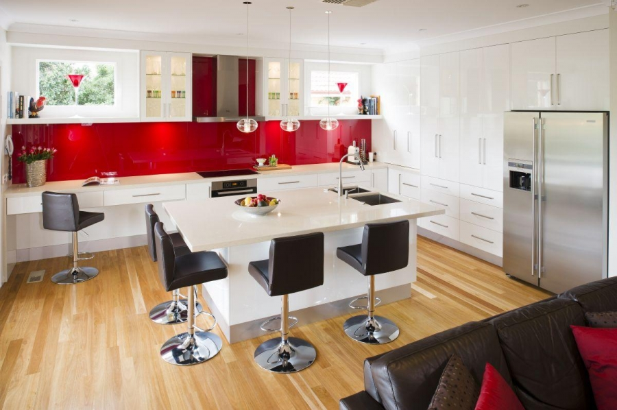 Contemporary Red Kitchen Ideas Part 96