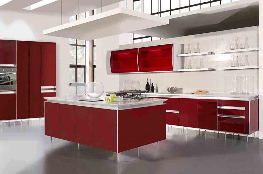 red-kitchen-designs