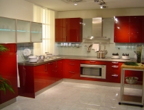 red-small-kitchen-designs