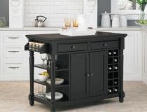 black-kitchen-island-carts