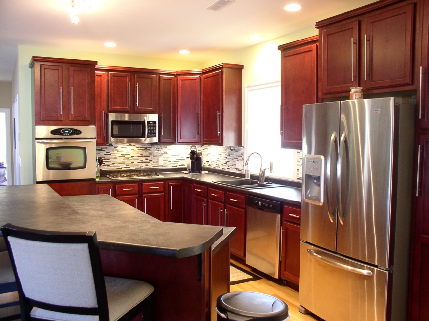 Kitchen island pictures gallery qnud - Two tier kitchen island ...