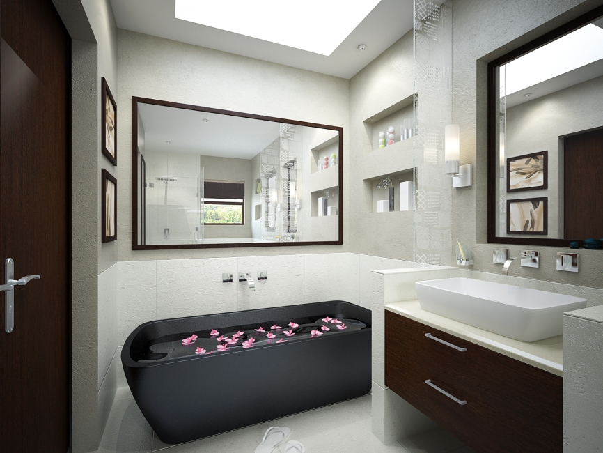 contemporary-small-bathroom-design-ideas & Small Bathroom Designs Picture Gallery   QNUD