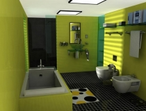 green-small-bathroom-design