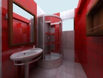 red-small-bathroom-designs