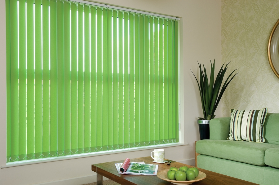 green-vertical-blinds