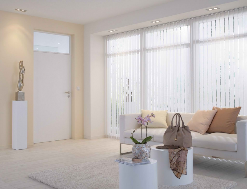 White Vertical Patio Blinds