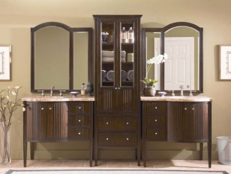 15 must see double sink bathroom vanities in 2014 qnud for Bathroom cabinet ideas