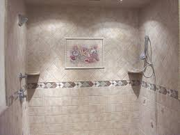 Floral Bathroom Tile