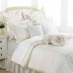 White Bedroom Throw Pillows