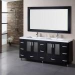 Black Bathroom Vanity with Double Sinks