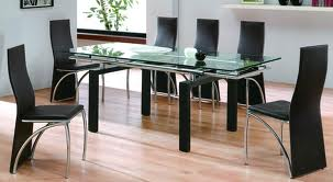 Black Glass Dining Table & Chairs