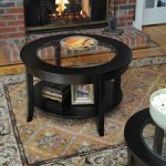 Black Round Glass Coffee Table