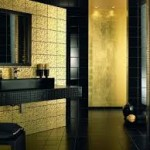 Black and Gold Bathroom Tile Designs