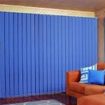 Blue Fabric Vertical Blinds