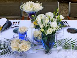 Blue Dining Table Centerpieces