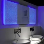 Blue Lighted Bathroom Mirrors
