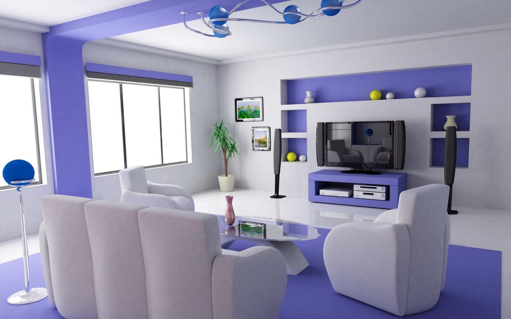 Blue Living Room Designs