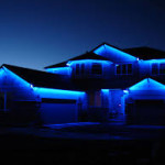 Blue Outdoor LED Lights