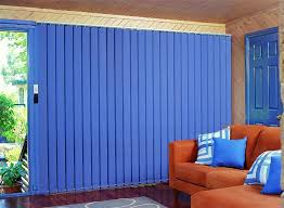 Blue Patio Door Blinds