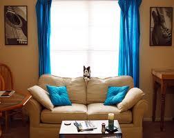 Blue Window Curtains