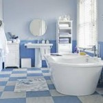 Blue and White Bathroom Tile Designs