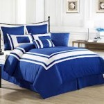 Blue and White Boys Bedding Sets