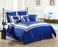 Blue and White Boys Bedding