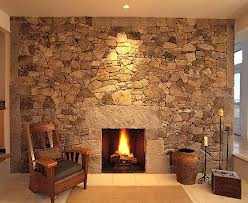 Bown Cobblestone Fireplace
