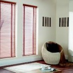 Brown Wooden Venetian Blinds