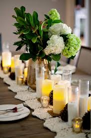Candle Table Centerpieces