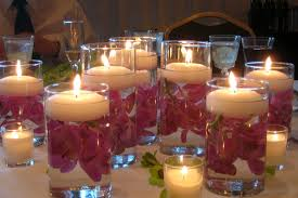 Candles as Centerpieces