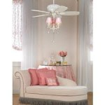 Ceiling Fan with Pink Lights