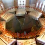 Circular Glass Dining Room Set