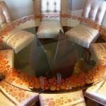 Circular Glass Dining Room Set