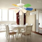 Colorful Ceiling Fan with Lights