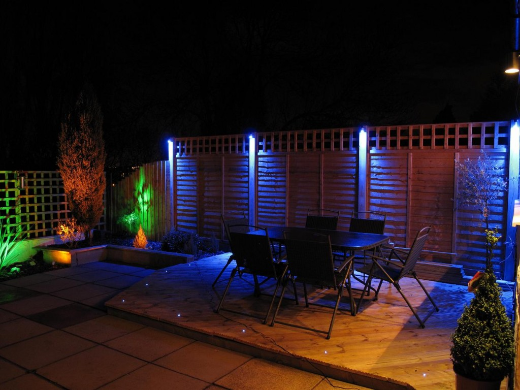 Colorful LED Lights for the Garden