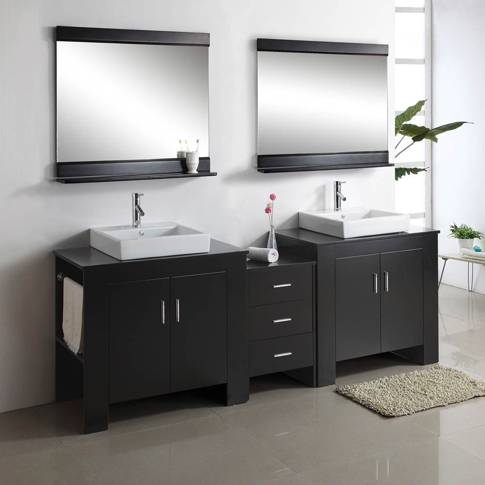 contemporary bathroom units with storage