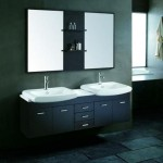 Contemporary Bathroom Vanity with 2 Sinks