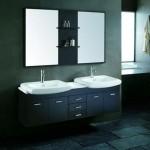 Contemporary Bathroom Vanity with 2 Sinks
