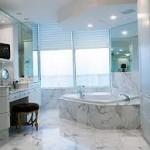 Contemporary Bathroom Window Treatments