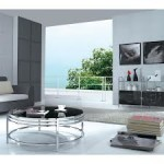 Contemporary Glass Top Coffee Table