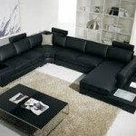 Black Contemporary Living Room Furniture
