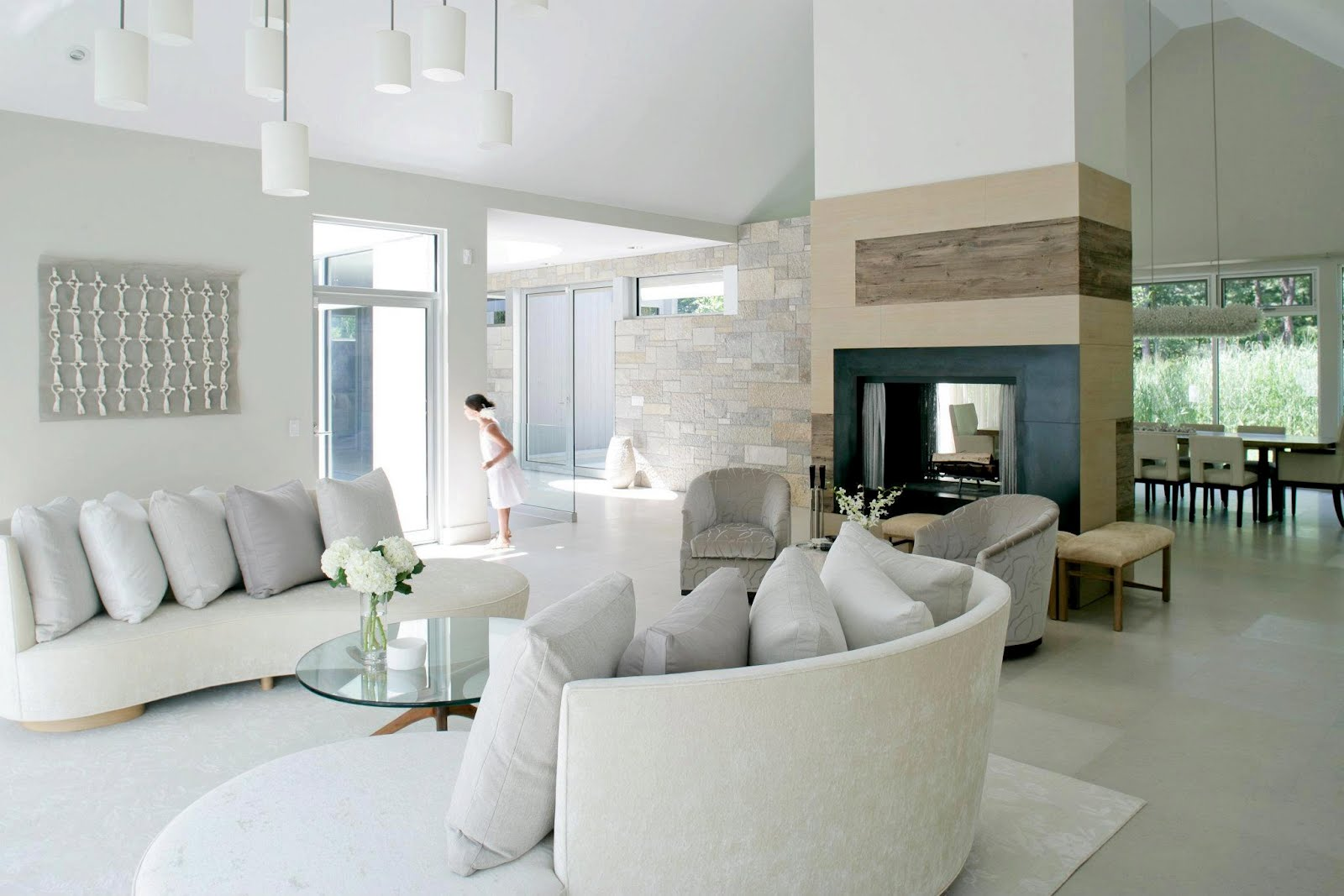 Most popular living room designs for 2014 qnud Pictures of white living rooms